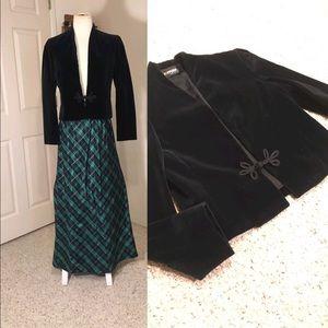 ILGWU Velvet vintage Black topper Jacket